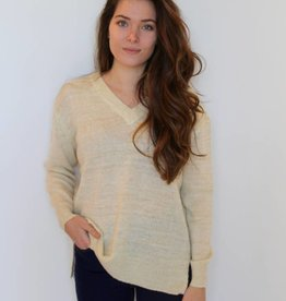 All That Glitters V Neck Sweater
