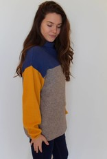 Free People: Softly Structured Color-Blocked Sweater