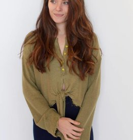 Free People: Emma's Henley- Olive