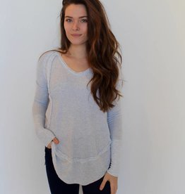 Free People: Catalina Thermal- Sky Blue