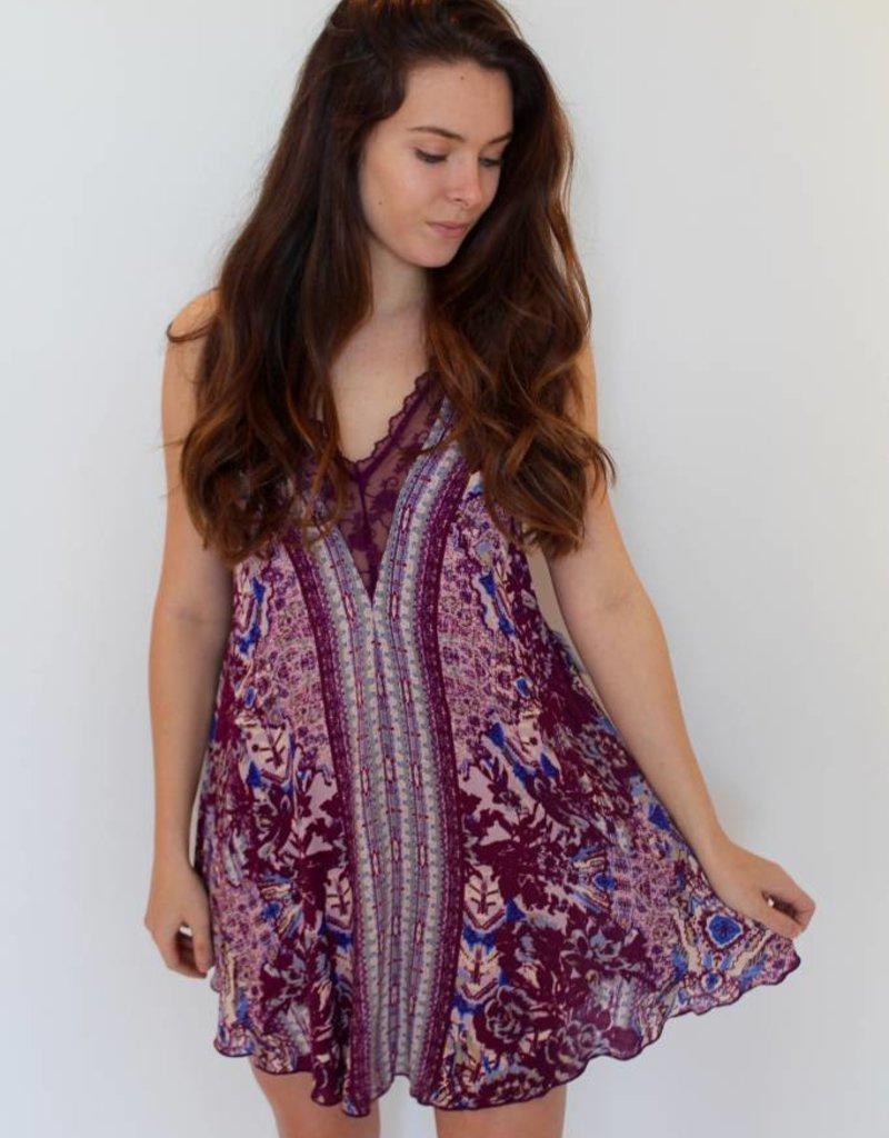 Free People: Love Bird Printed Mini Dress
