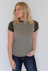 Free People: Night Sky Tee- Army Green