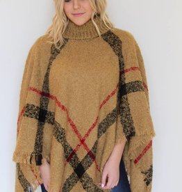 Cozy in Paid Fringe Poncho