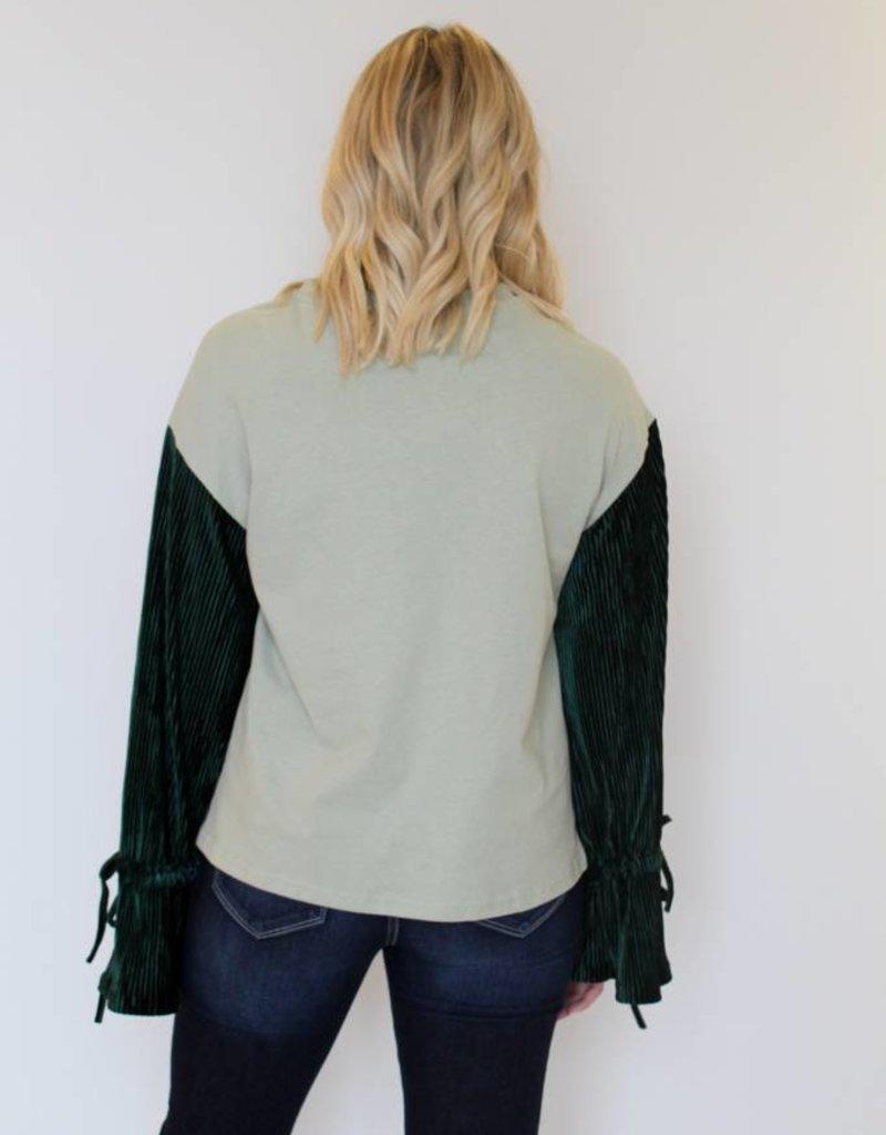 Greenhouse Velvet Sleeve Top
