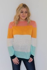 Candy Land Knit Color Block Sweater