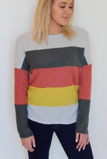 Softly Knit Color Block Sweater