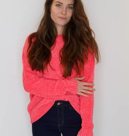 Neon Dreams Chenille Knit Sweater