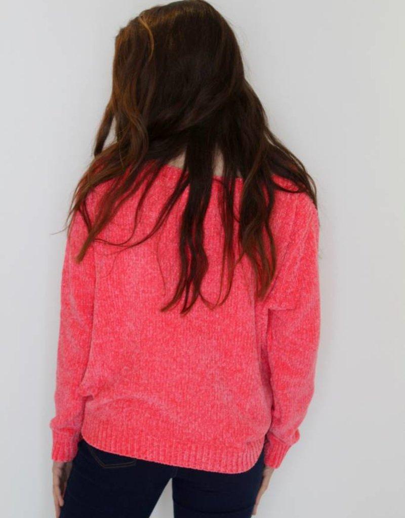 Neon Dreams Chenille Knit Sweater