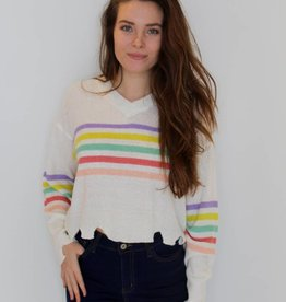 Stripes on Stripes Knit Crop Sweater