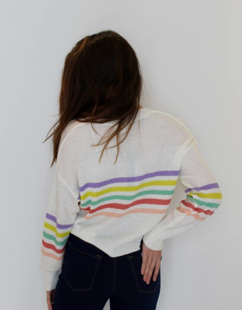 Stripes on Stripes Knit Crop Sweater