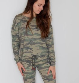 P.J. Salvage: Camo Open Back Sweatshirt