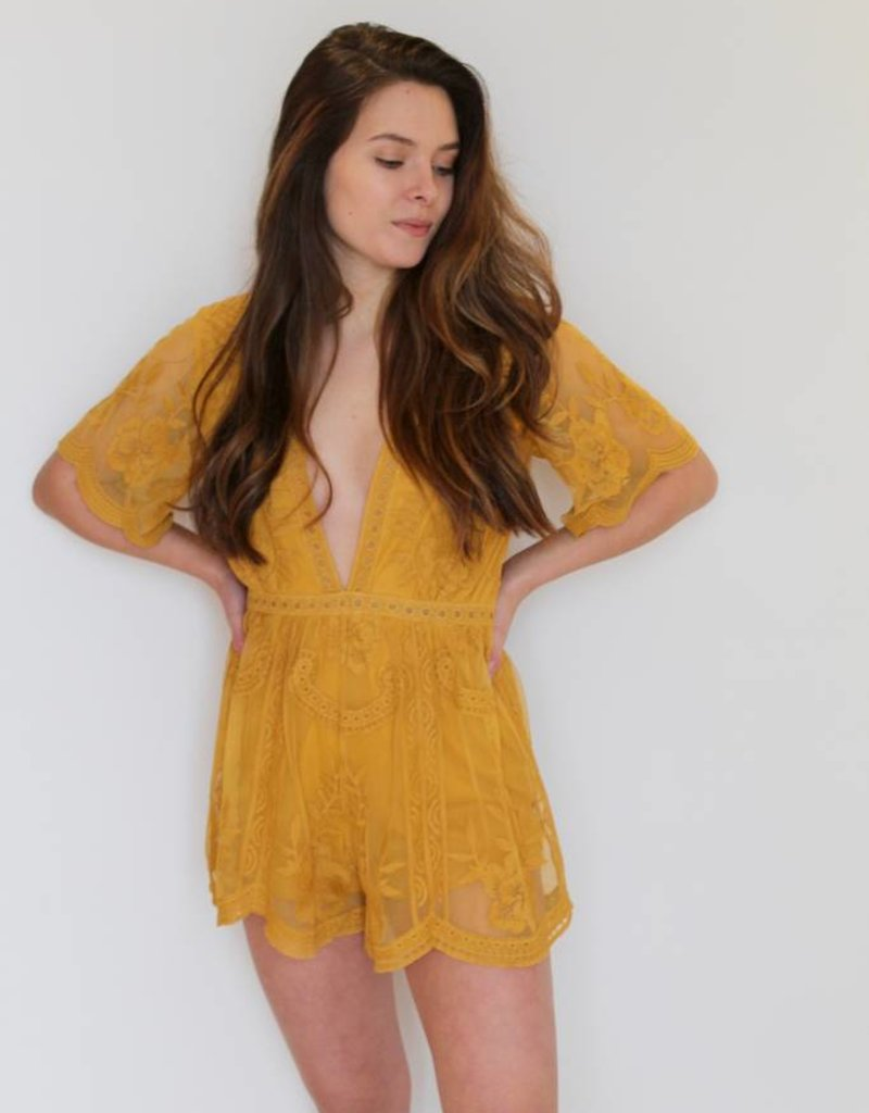 Falling For You Lace Romper