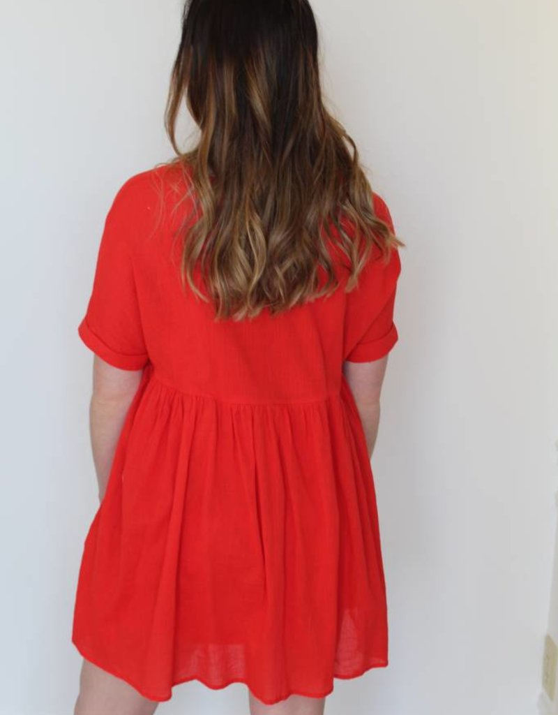 Twistin' and Groovin' Babydoll Dress