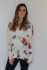 Show Me Your Mumu: Cliffside Distressed Sweater- Florence Floral Knit