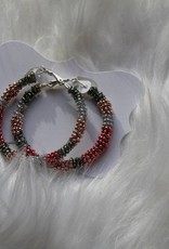 Sandra Claire: Beaded Hoops - Large