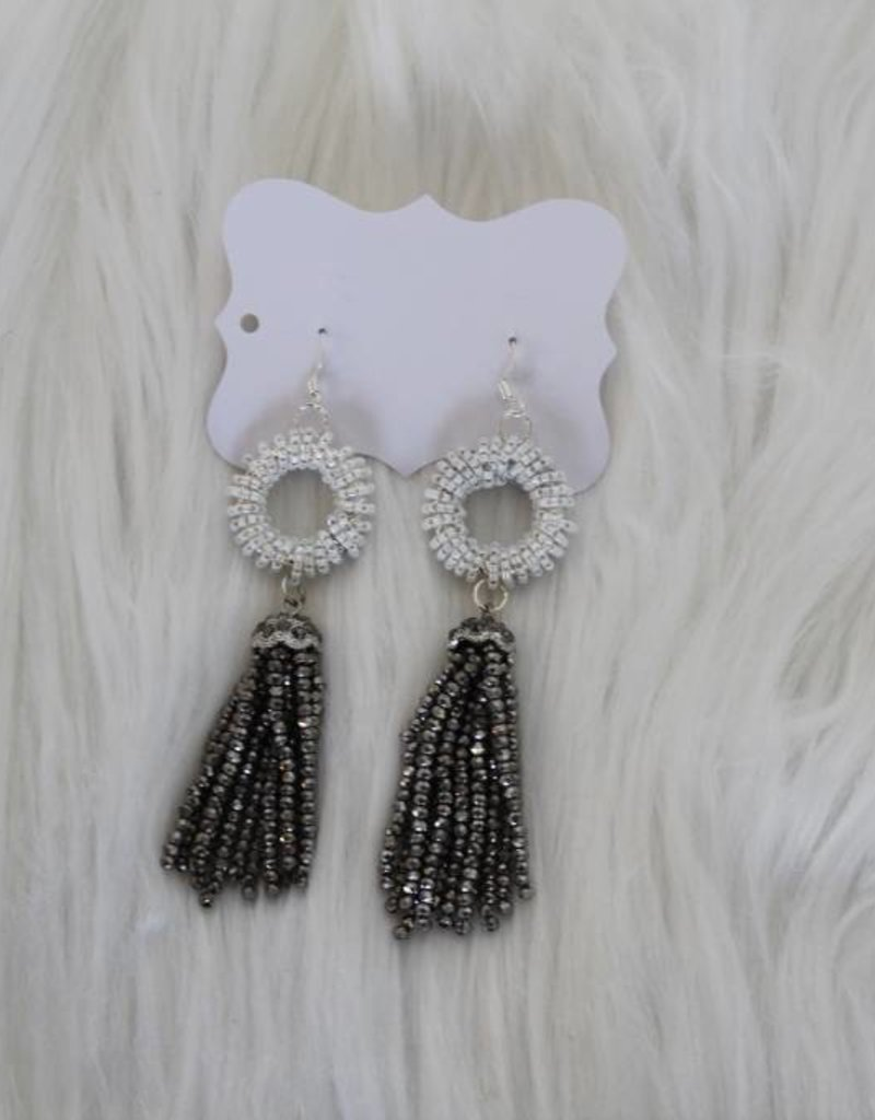 Sandra Claire: Beaded Tassel Earrings