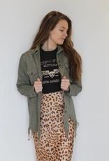 Free People: Normani Bias Leopard Printed Skirt