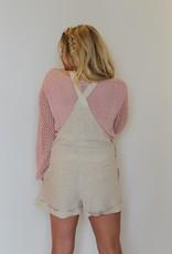 Show Me Your Mumu: Beachside Overalls - Cream Linen
