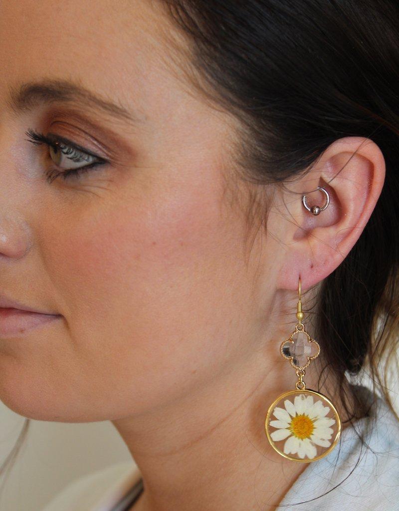 Dangle Flower Earrings