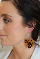 Tortoise Dangle Leaf Earrings