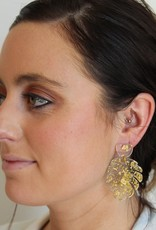Resin With Gold Leaf Earrings
