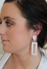 Tortoise Rectangle Earrings