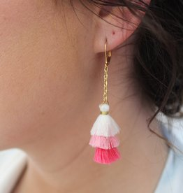 Small Multi Tassel Earrings