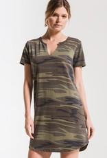 Z Supply: Camo Split Neck Dress