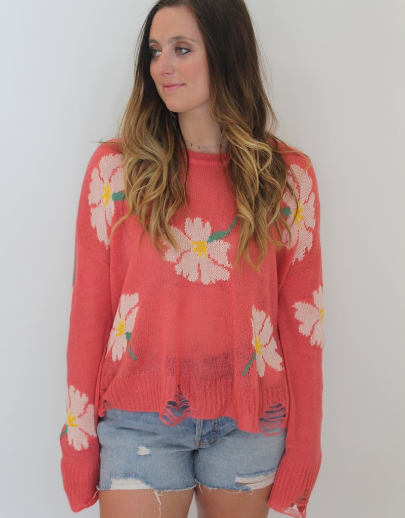 Show Me Your Mumu: Seco Distressed Floral Sweater