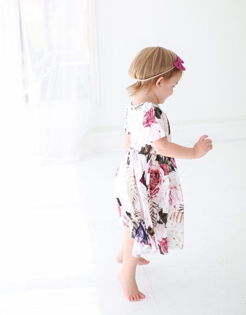 Posh Peanut: Twirl Dress - Black Rose