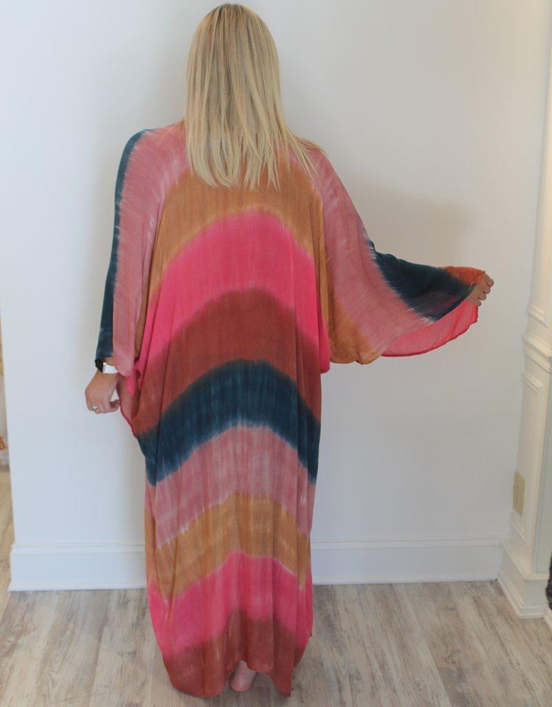 Sunset Tie Dye Kimono