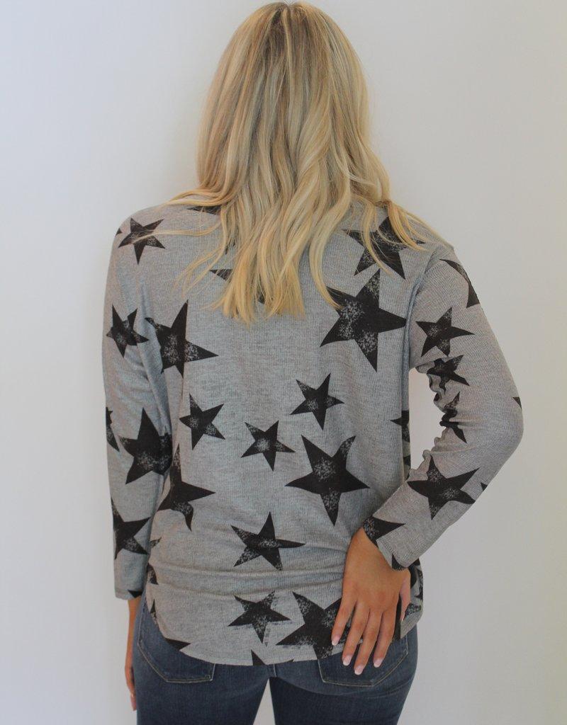 Nally & Millie: Star Printed Long Sleeve Top