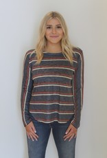 Nally & Millie: Multi Stripe Long Sleeve Top