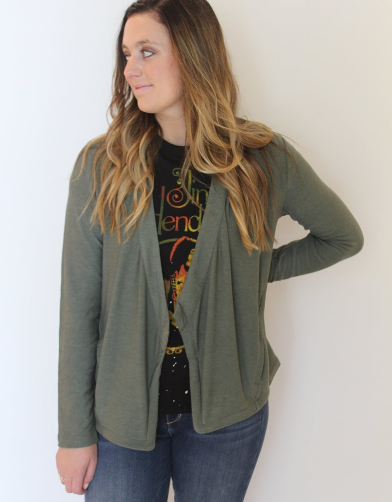 Chaser: Cozy Knit Open Front Blazer