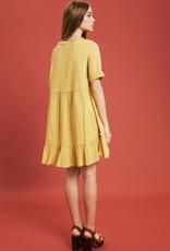 Textured Babydoll Tunic Dress