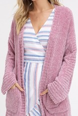 Chenille Open Pocket Cardigan