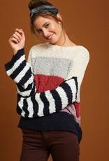 Stripe Popcorn Sweater