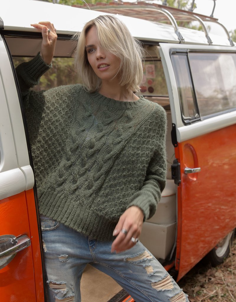 Wooden Ships: Autumn Cable Crew Sweater