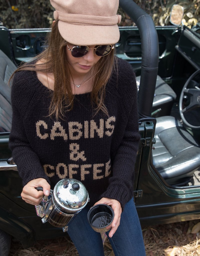 Wooden Ships: Cabins & Coffee Knit Sweater