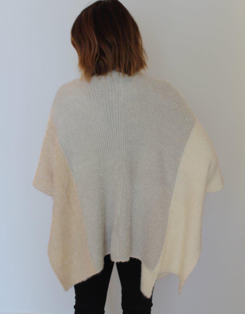 Black Tape: Colorblock Sweater Cardigan
