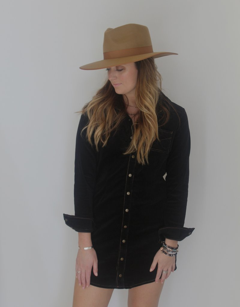Chaser: Corduroy Shirt Dress