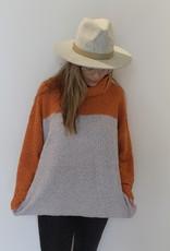 Popcorn Color Block Sweater