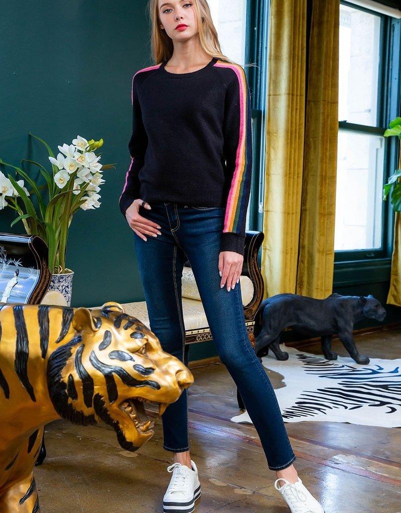 thml Multi Stripe Sleeved Sweater
