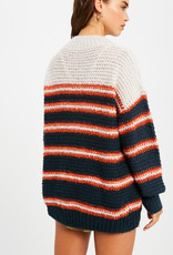 Listicle Pullover Stripe Sweater