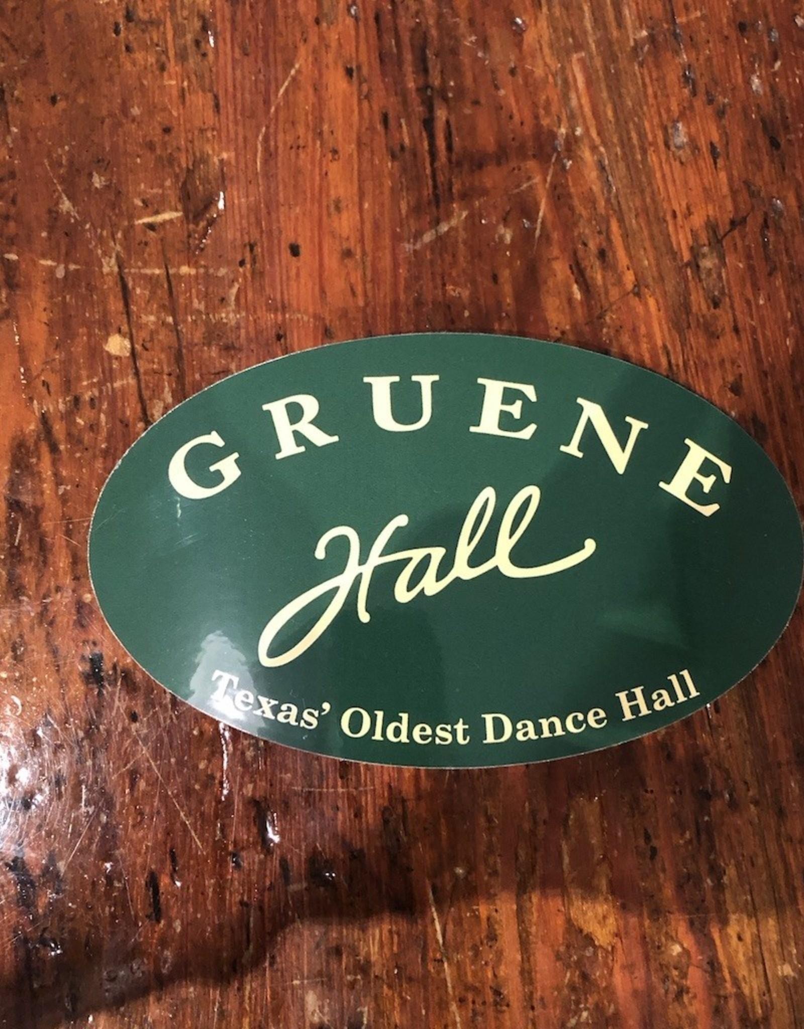 Gruene Hall Bumper Sticker Green
