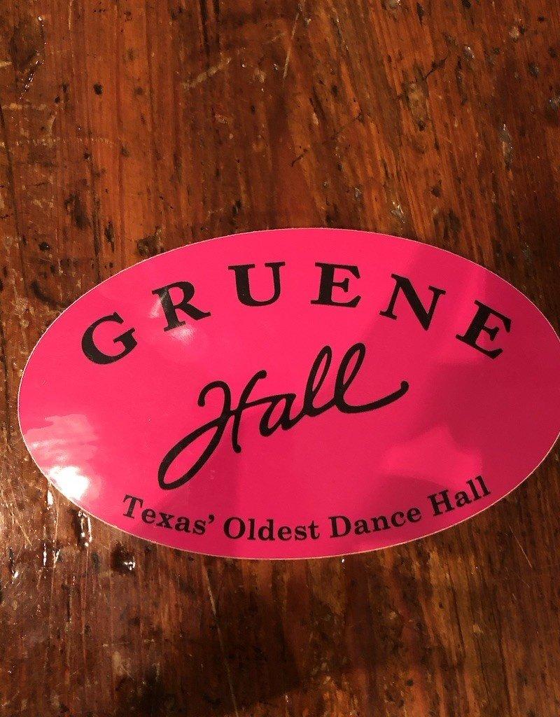 Gruene Hall Bumper Sticker Pink