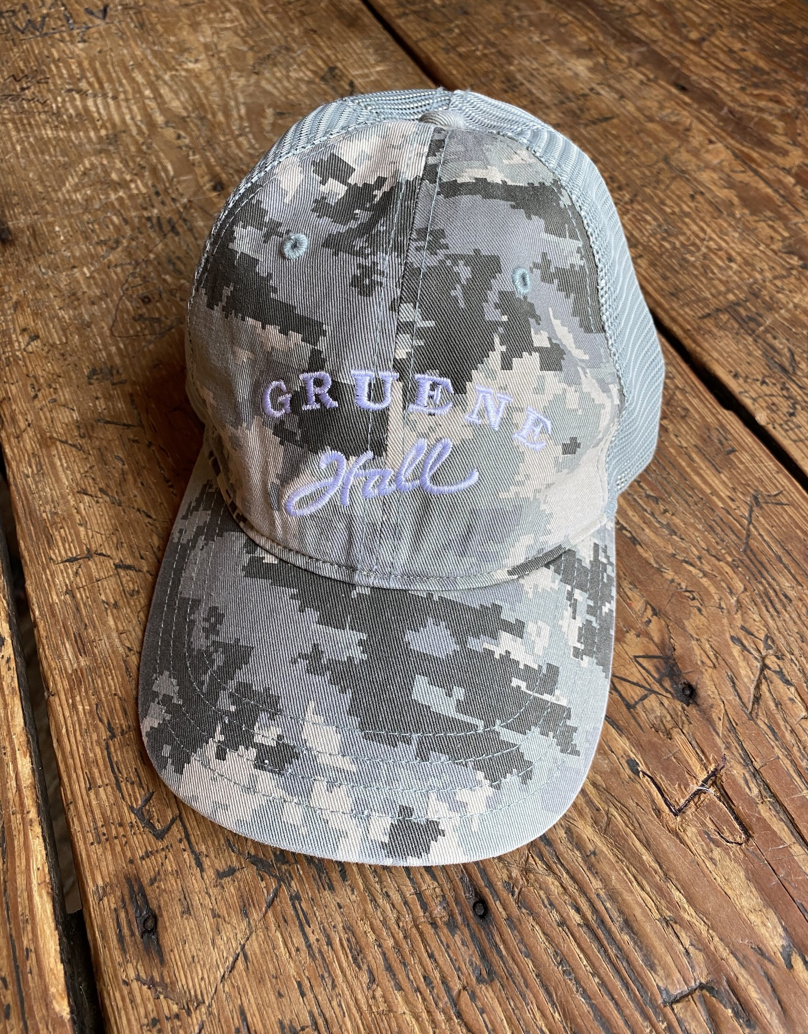 Garment Washed Trucker Cap Camo