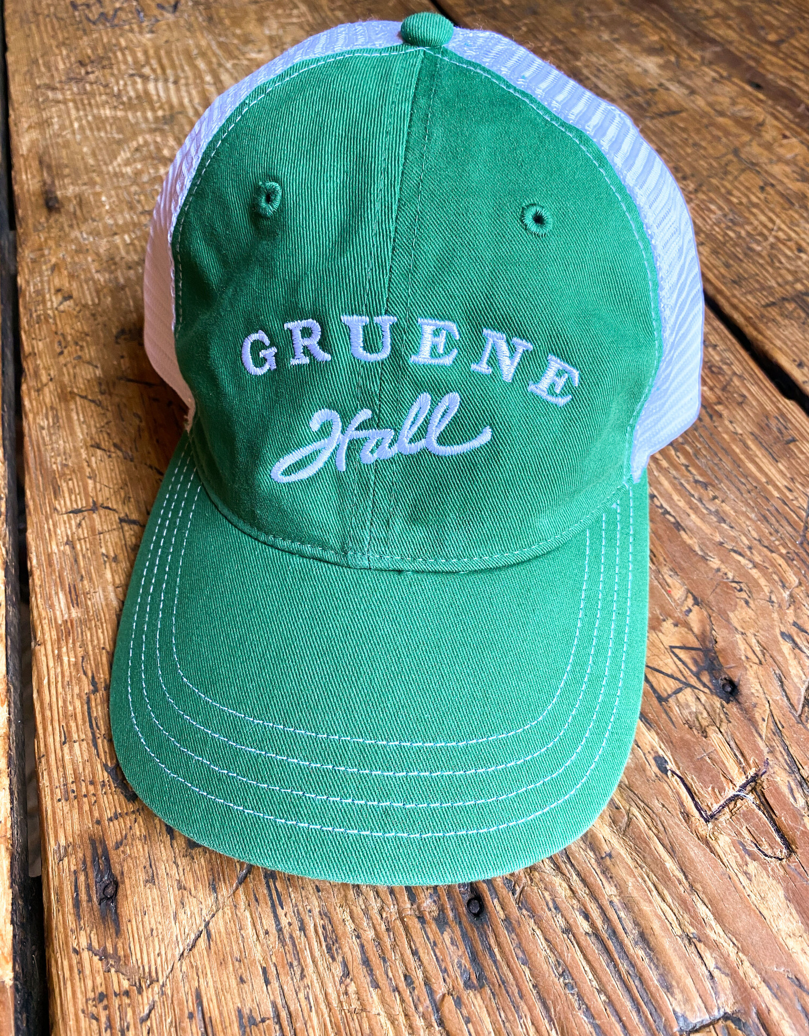 Garment Washed Trucker Cap Green