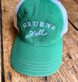 Garment Washed Trucker Cap Green