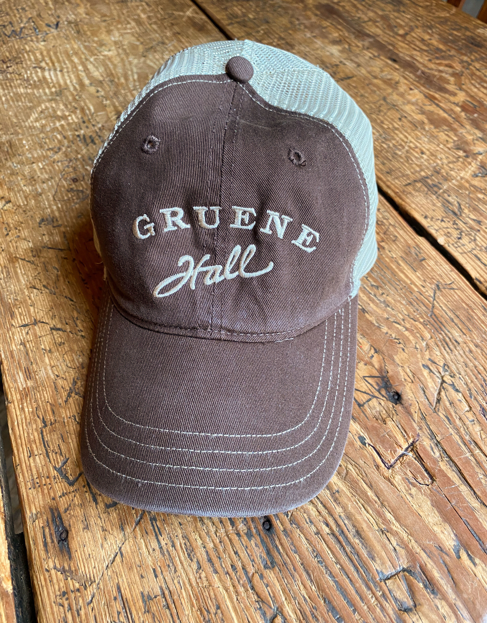 Garment Washed Trucker Cap Brown